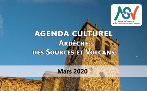 Agenda culturel de mars
