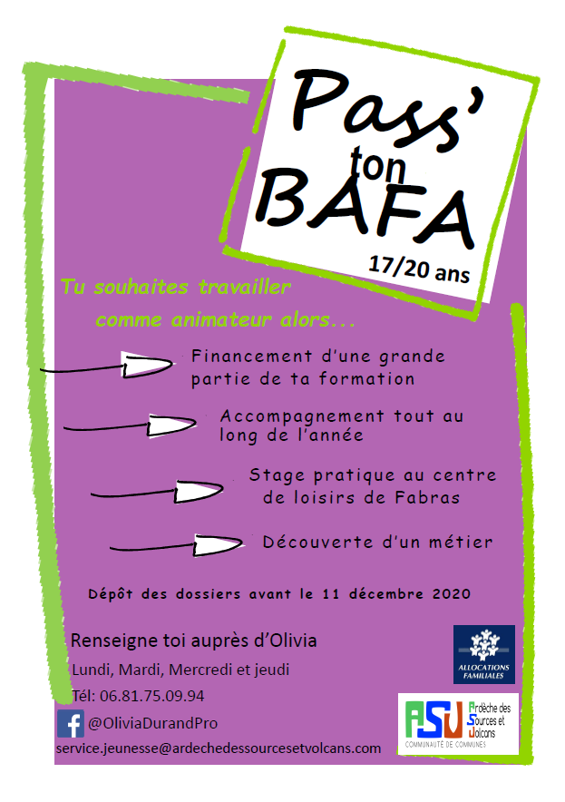 Affiche pass' ton BAFA