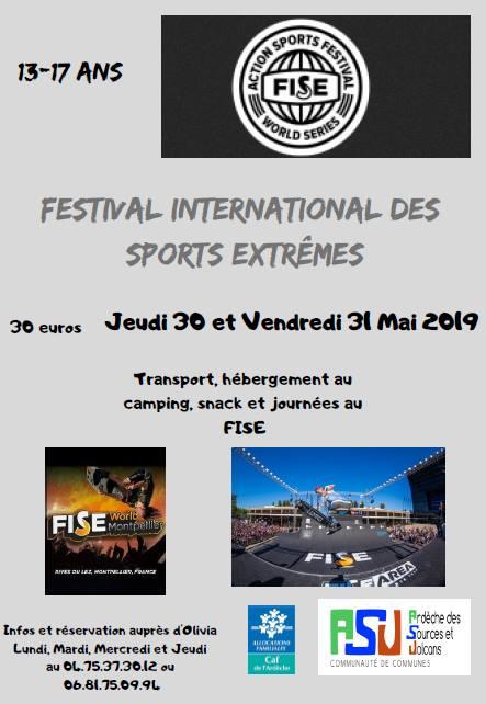 affiche fise 2019 festival des sports extrêmes